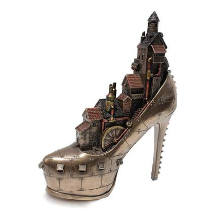 steampunk stiletto bronze sculpture