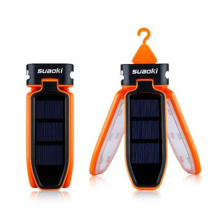 SUAOKI Collapsible Clover Style 18 Led Solar Tent Light