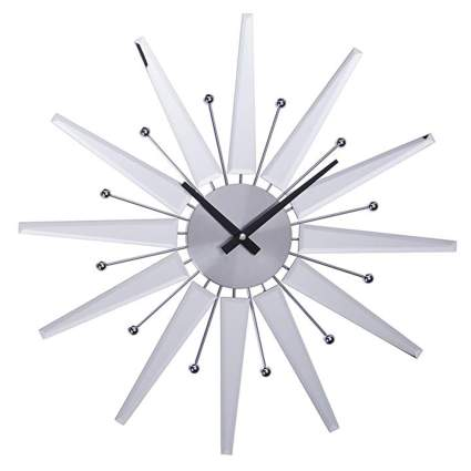 mirrored starburst clock