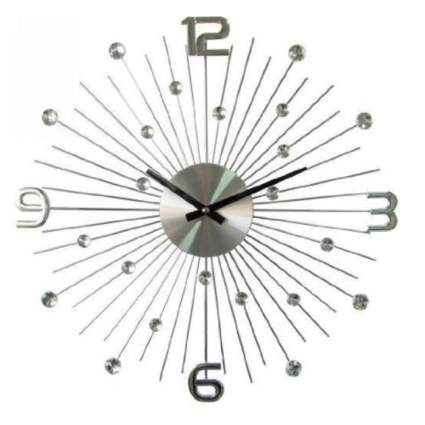 metal starburst clock with large numbers