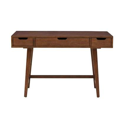 three drawer mid century modern writing desk