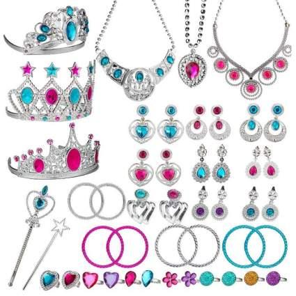 WATINC 46Pack Princess Pretend Jewelry Toy
