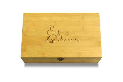 weed box with molecule design