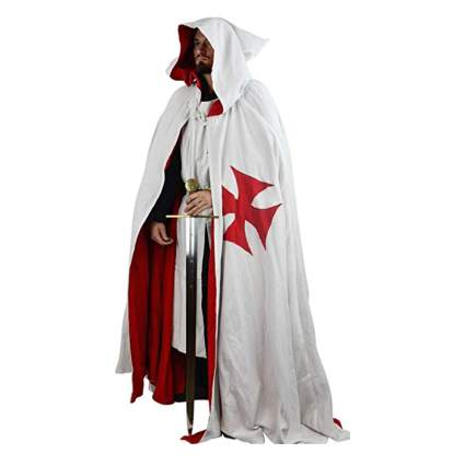 white templar cape with hood