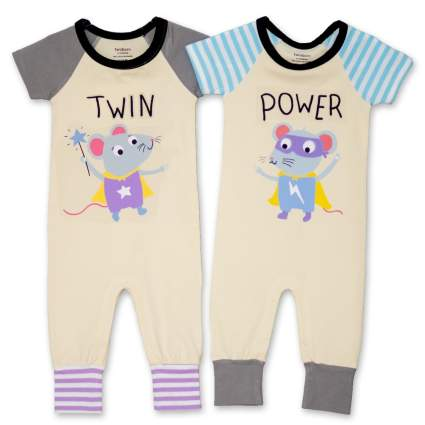 Twin Power Boy Girl Twin Clothing Set
