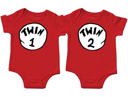 Twin Baby Boys Bodysuits