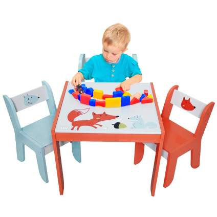 Wood Table Set for Kids