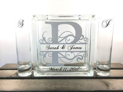 Personalized Monogram Sand Unity Ceremony Set
