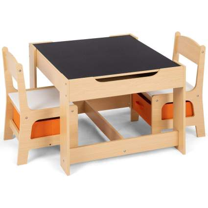Costzon Kids Table and 2 Chairs Set