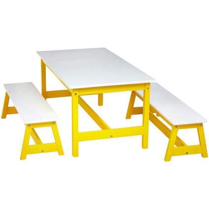 AmazonBasics Indoor Kids' Table and Bench Set