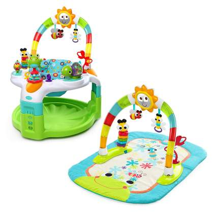 Bright Starts 2 in 1 Laugh & Lights Activity Gym & Saucer