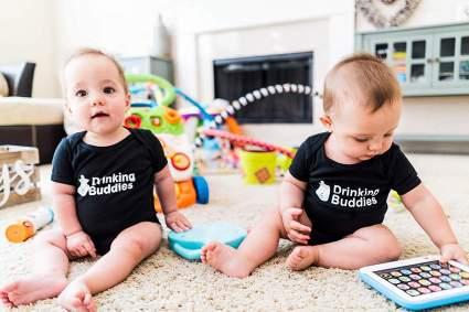 Milk Drinking Buddies Twin