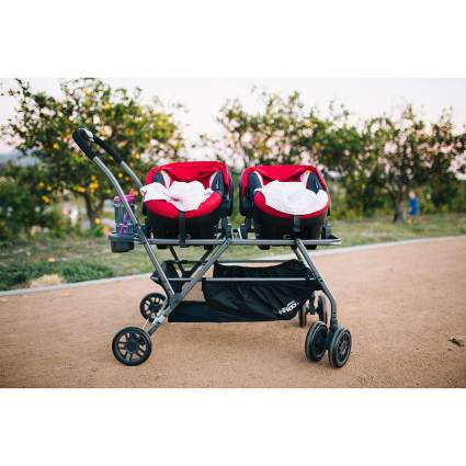JOOVY Twin Roo Plus Car Seat Stroller