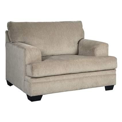 overstuffed accent chair