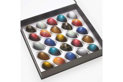 Box of colorful Rimini chocolates
