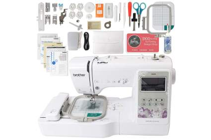 White brother sewing machines with accessories