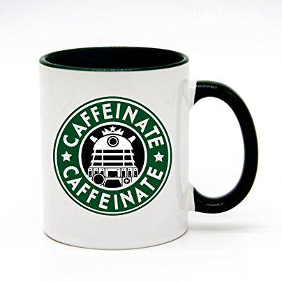 Mug with parody Starbucks logo
