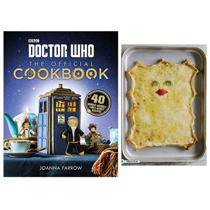 Doctor Who cookbook with Cassandra pizza