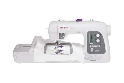 white and grey singer sewing machines