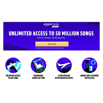 Amazon Music Unlimited Subscription