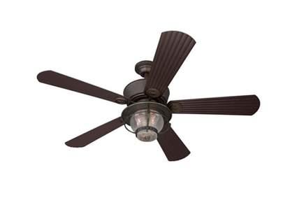 antique bronze five blade indoor/outdoor ceiling fan