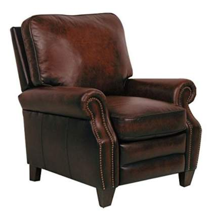 brown leather recliner