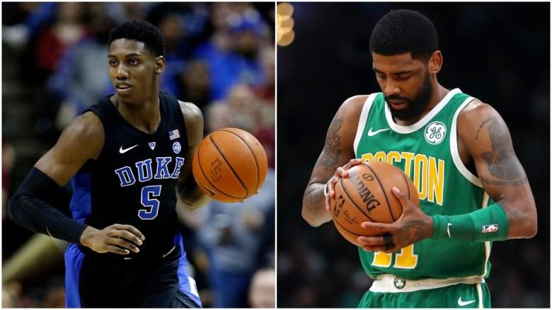 New York Knicks NBA mock draft RJ barrett trade Kyrie Irving
