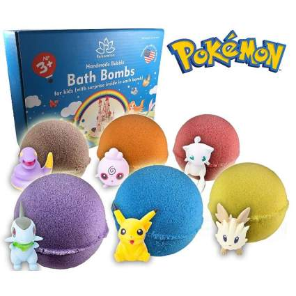 Bath Bombs For Kids with POKEMON TOYS INSIDE