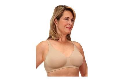 beige wireless cotton mastectomy bra
