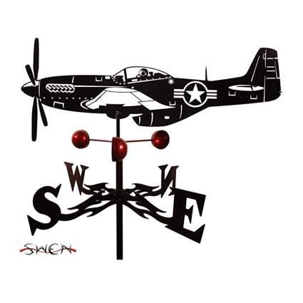 black p-51 mustang weathervane