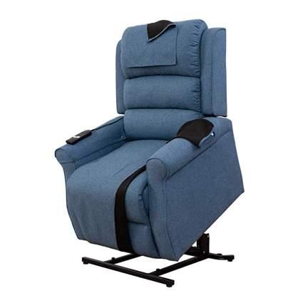 blue linen lift recliner