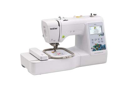 White Brother embroidery unit with touchscreen