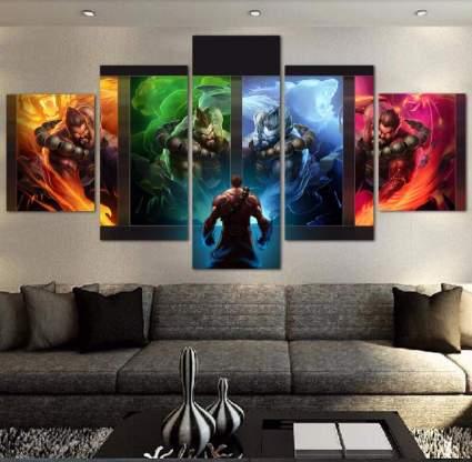 canvas 5 piece modern darius painting