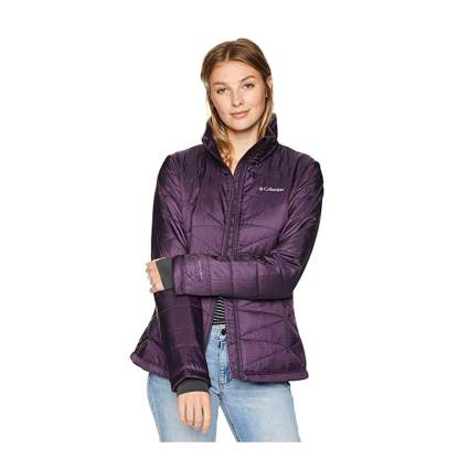 plum lightweight outdoor jacket