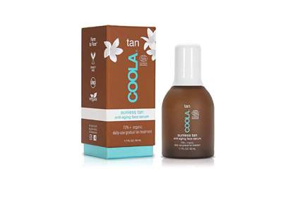 organic anti aging serum and sunless tanner