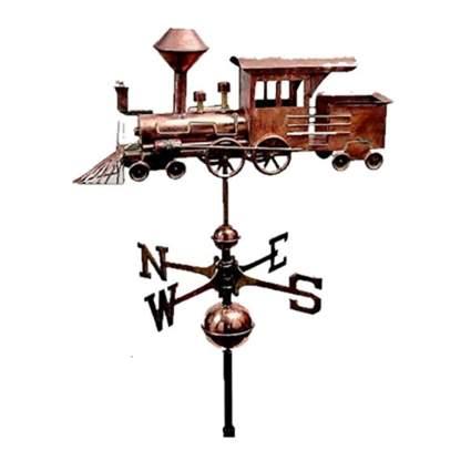 copper steam engine train weathervane