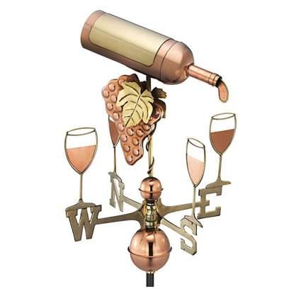 copper wine bottle weathervane