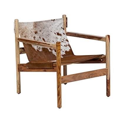 cowhide sling chair