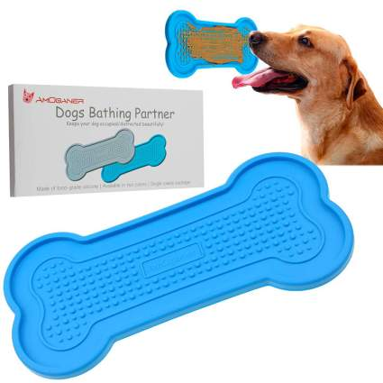 AmOganer Dog's Bathing Partner Peanut Butter Distraction Pad
