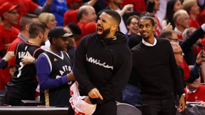 Drake at Toronto Raptors game NBA Finals Warriors