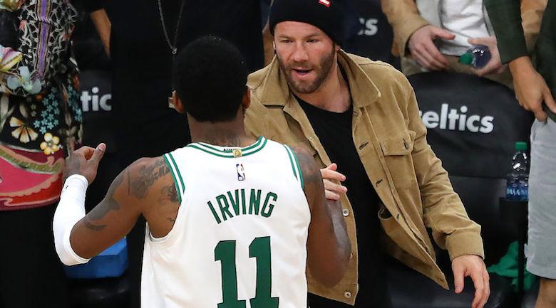 Julian Edelman Kyrie Irving Celtics playoffs