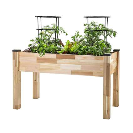 elevated outdoor cedar planter