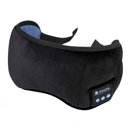 Enjoying Sleep Mask with Bluetooth Headphones Weird Gadgets
