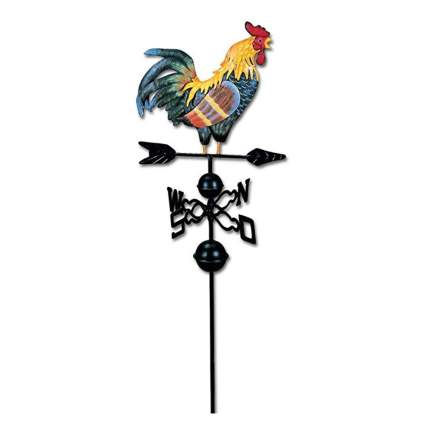 fancy colored rooster weathervane