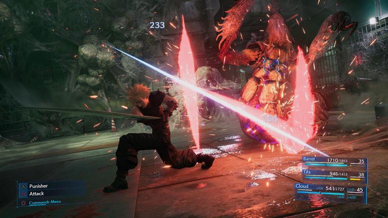 Final Fantasy 7 Remake Battle System