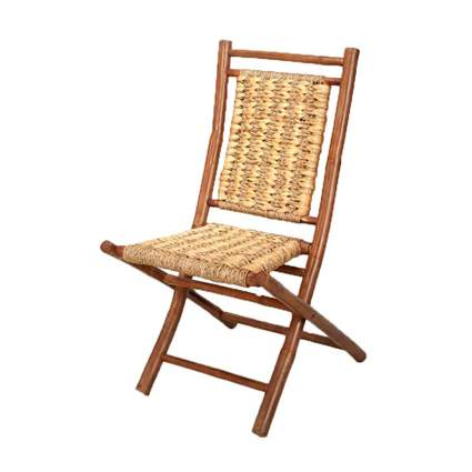 folding bamboo camp chair