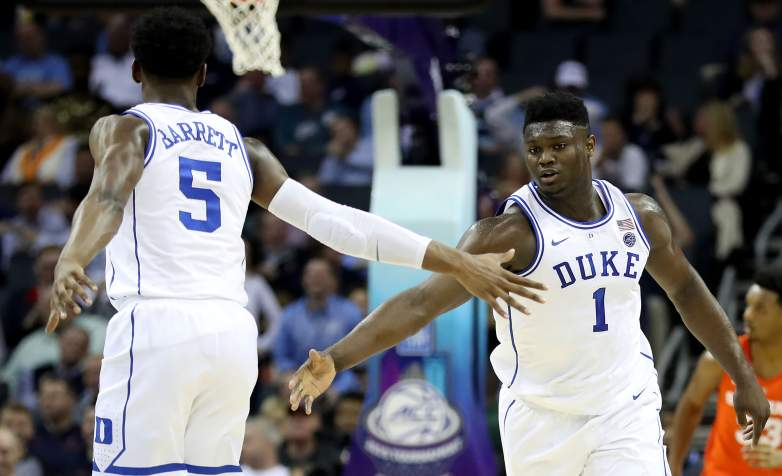 The New Orleans Pelicans are on the clock with the number one overall pick in Thursday's NBA Draft where they are expected to select Duke's Zion Willamson.