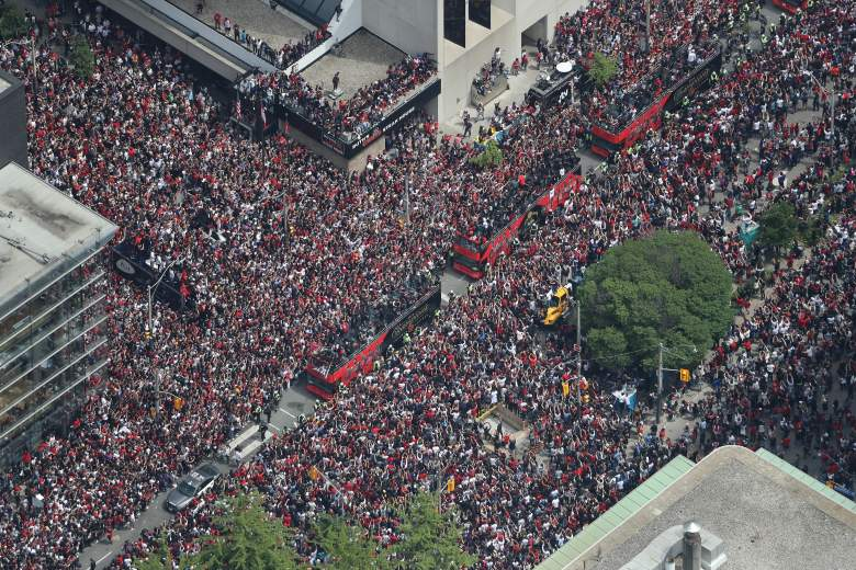 Over a million people lined the streets of downtown to Toronto on Monday to celebrate the Raptors' first NBA title.