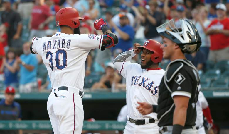 Texas Rangers' outfielder Nomar Mazara slammed a 505-foot home run on Friday night against the White Sox that tied a Statcast era record.