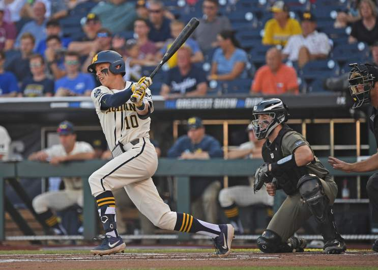 Michigan beat Vanderbilt 7-4 in Game 1 of the College World Series Finals on Monday night and are now just one victory away from clinching their third NCAA baseball title.